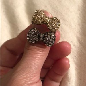 Two Hello Kitty F21 style bow rings for stacking